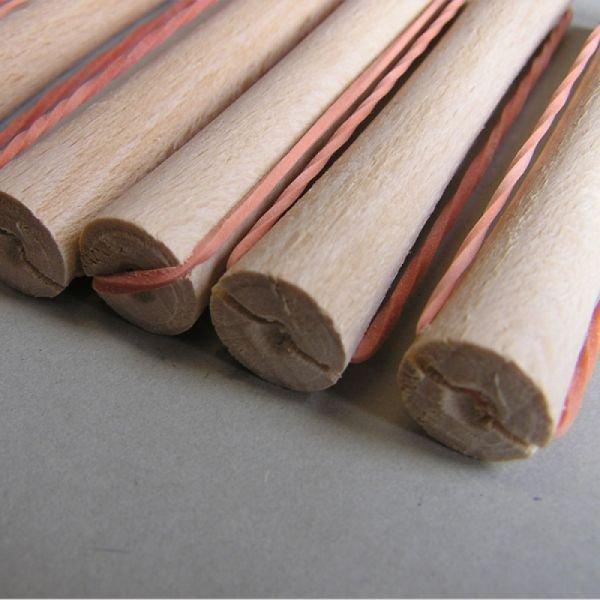 Dřevěné natáčky na trvalou s gumičkou