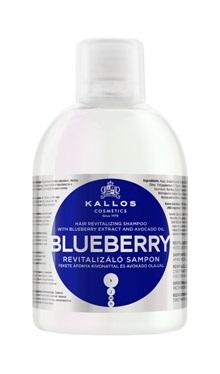 Kallos Blueberry shampoo - šampón na suché a chemicky namáhané vlasy, 1000 ml