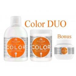 Kallos COLOR DUO -  šampón + maska na farbené vlasy