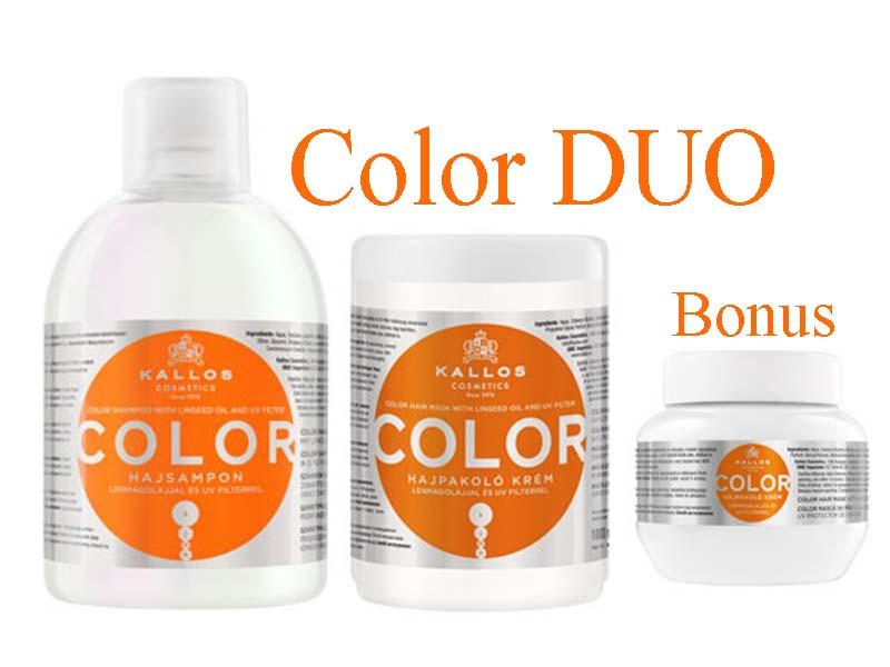 Kallos COLOR DUO - šampon + maska na barvené vlasy