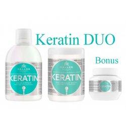 Kallos KERATIN DUO - keratínový šampón + maska