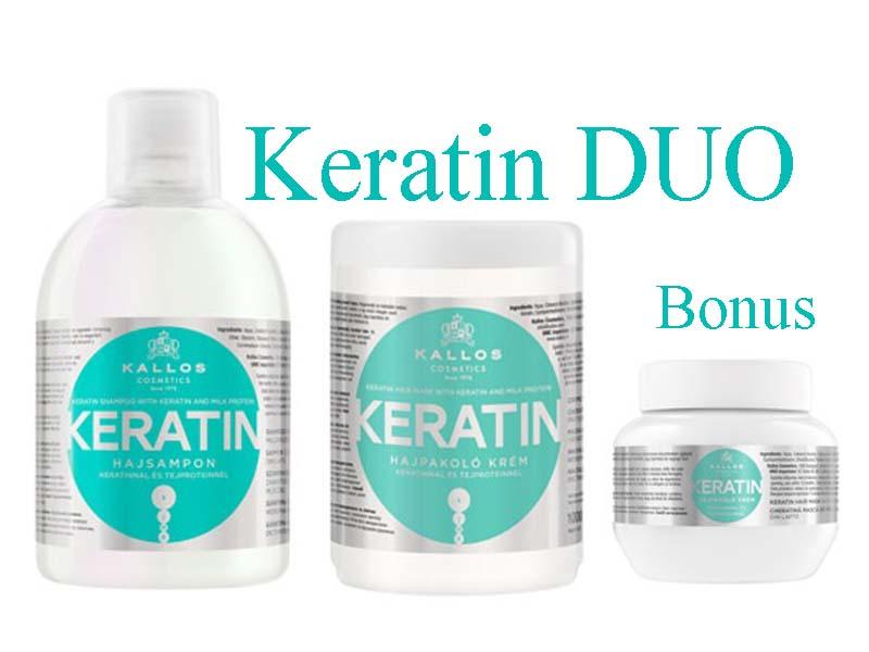 Kallos KERATIN DUO - keratinový šampon + maska