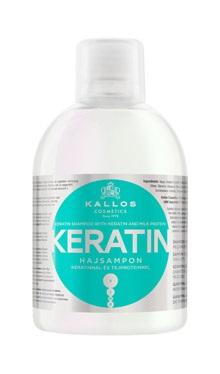 Kallos Keratin shampoo - regeneračný šampon na vlasy s keratínom 1000 ml