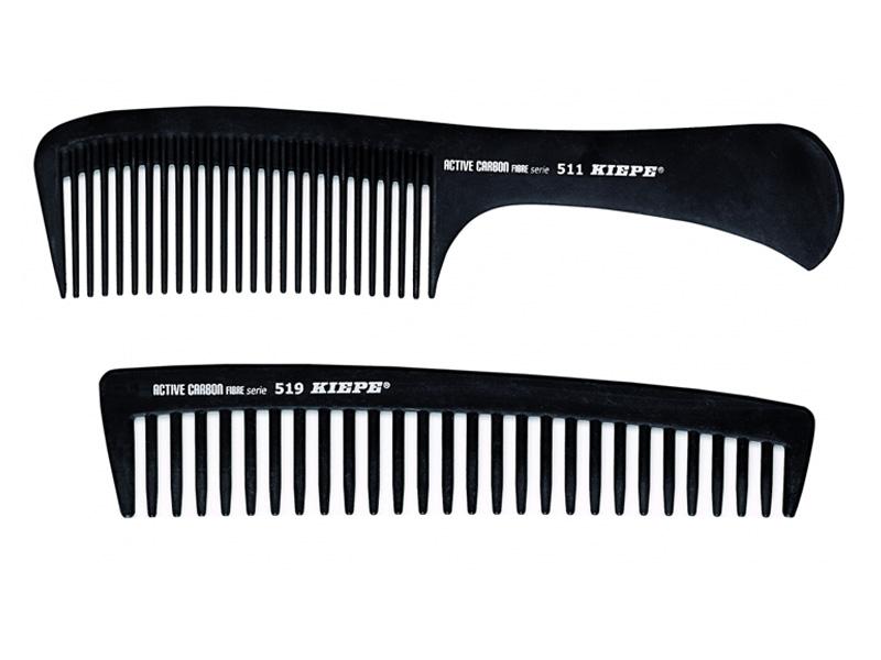 Kiepe Active Carbon Fibre comb - profesionální hřebeny na rozčesávání