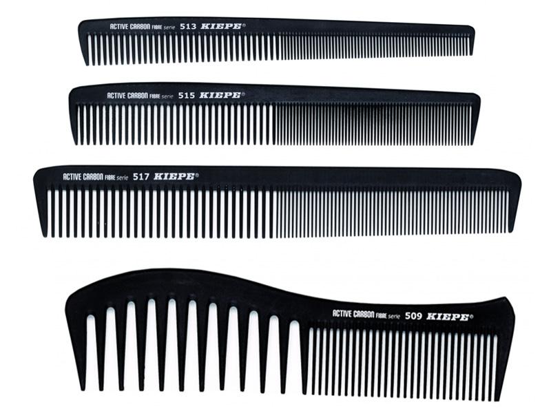Kiepe Active Carbon Fibre comb - profesionální kombinované hřebeny