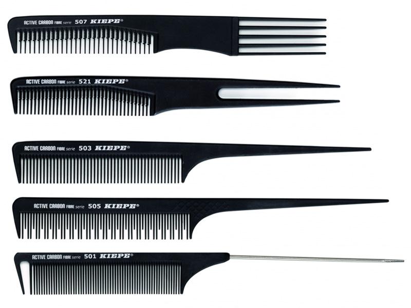 Kiepe Active Carbon Fibre comb - profesionální tupírovací hřebeny