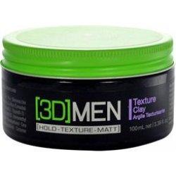 [3D] Men Texture Clay - modelovací hlína pro silné zpevnění účesu, 100 ml