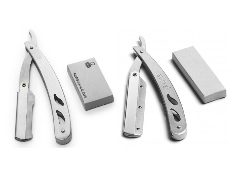 Shaving Knife Safety - kovová břitva na vyměnitelné žiletky, poloviční čepel