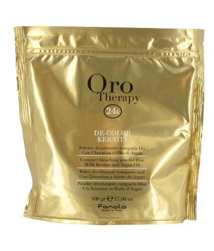 Fanola Oro Therapy De-color KERATIN - melírovací prášok s keratínom a argánovým olejom, 500 gr