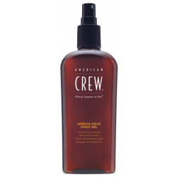 ​American Crew Medium Hold Spray Gel - gel ve spreji, 250 ml