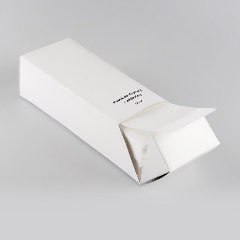 Depilačné stripy prúžky v krabičke K/001/100K - 20x6 cm, 100 ks