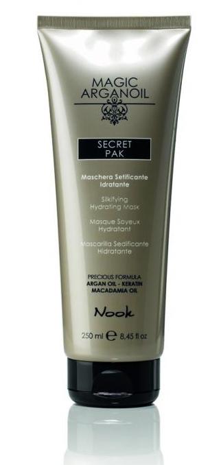Maxima Nook Secret Pak - vlasová maska s hodvábnym leskom pre suché a narušené vlasy, 250 ml