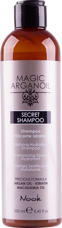 Maxima Nook Secret Shampoo -šampón s hodvábnym leskom pre suché a poškodené vlasy, 250 ml