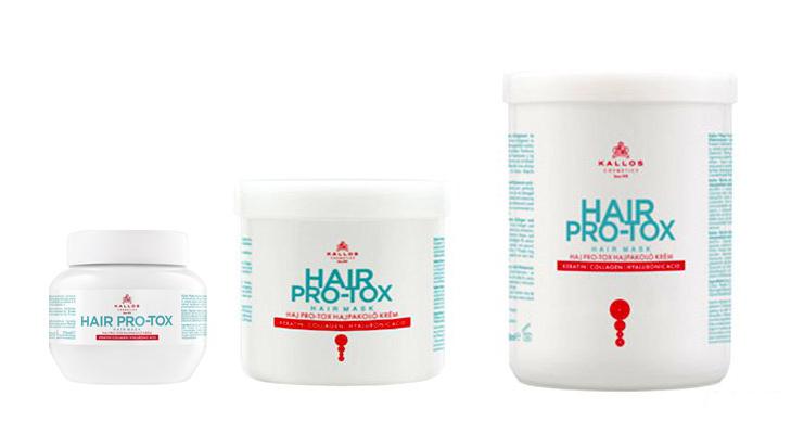 Kallos kjmn Hair PRO-TOX mask - regenerační maska na vlasy s keratinem, kolagenem a kyselinou hyaluronovou