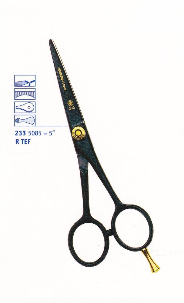 Dovo Solingen DOVO Black (233) - profesionálne kadernícke nožnice na kĺzavý strih