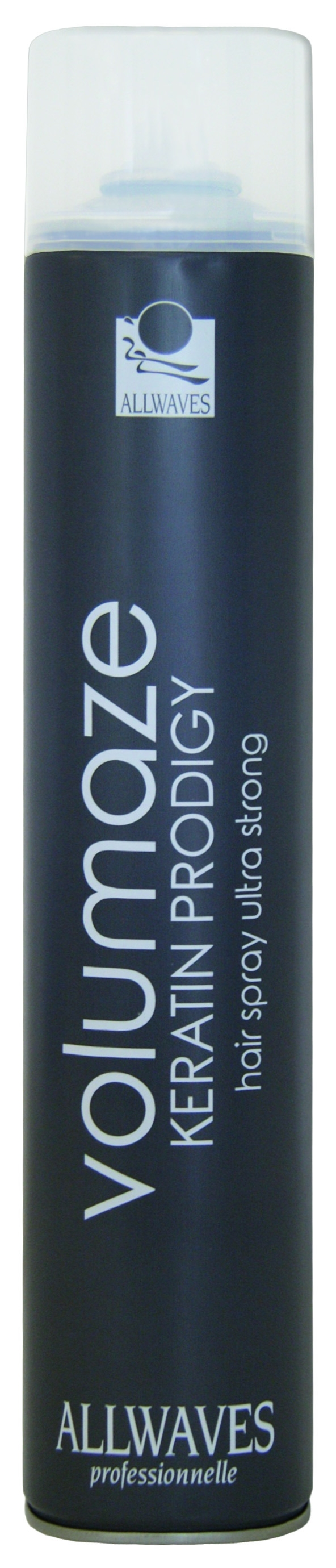 Allwaves Volumaze Keratin Prodigy Hair Spray Ultra Strong - objemový lak na vlasy s keratínom, 750 ml