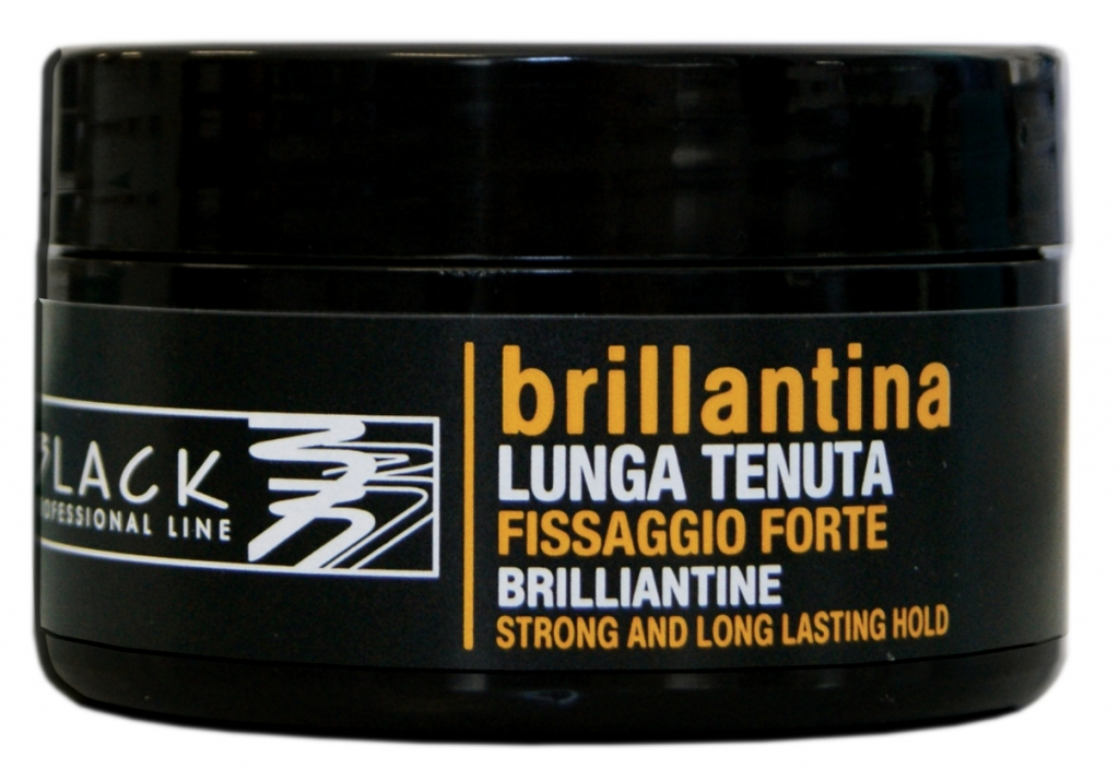 Black Brilliantine Strong And Long Lasting Hold - brilantína - vosk na vlasy, 100 ml