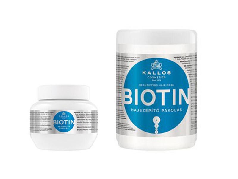 Kallos BIOTIN - maska pro tenké, slabé a lámavé vlasy
