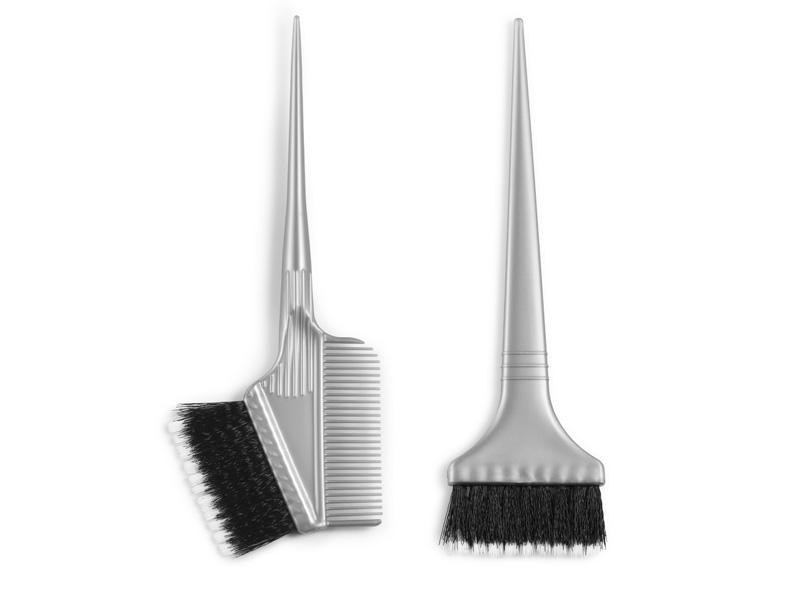 Dye brush soft and hard -  štetce na aplikáciu farieb a melírov, kombinácia tvrdých a mäkkých štetín
