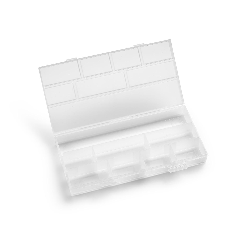 Plastový organizér na sponky a vlásenky malý 4988, 12x25x3cm, výška 3 cm