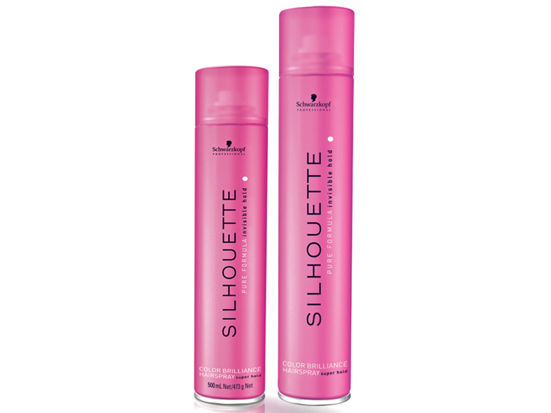 Schwarzkopf Silhouette Color Brilliance Hairspray Super Hold - fixačný lak na vlasy s leskom