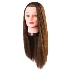 Cvičná hlava PIA 7001170, 100% proteinové vlasy, světle hnědá 60 cm