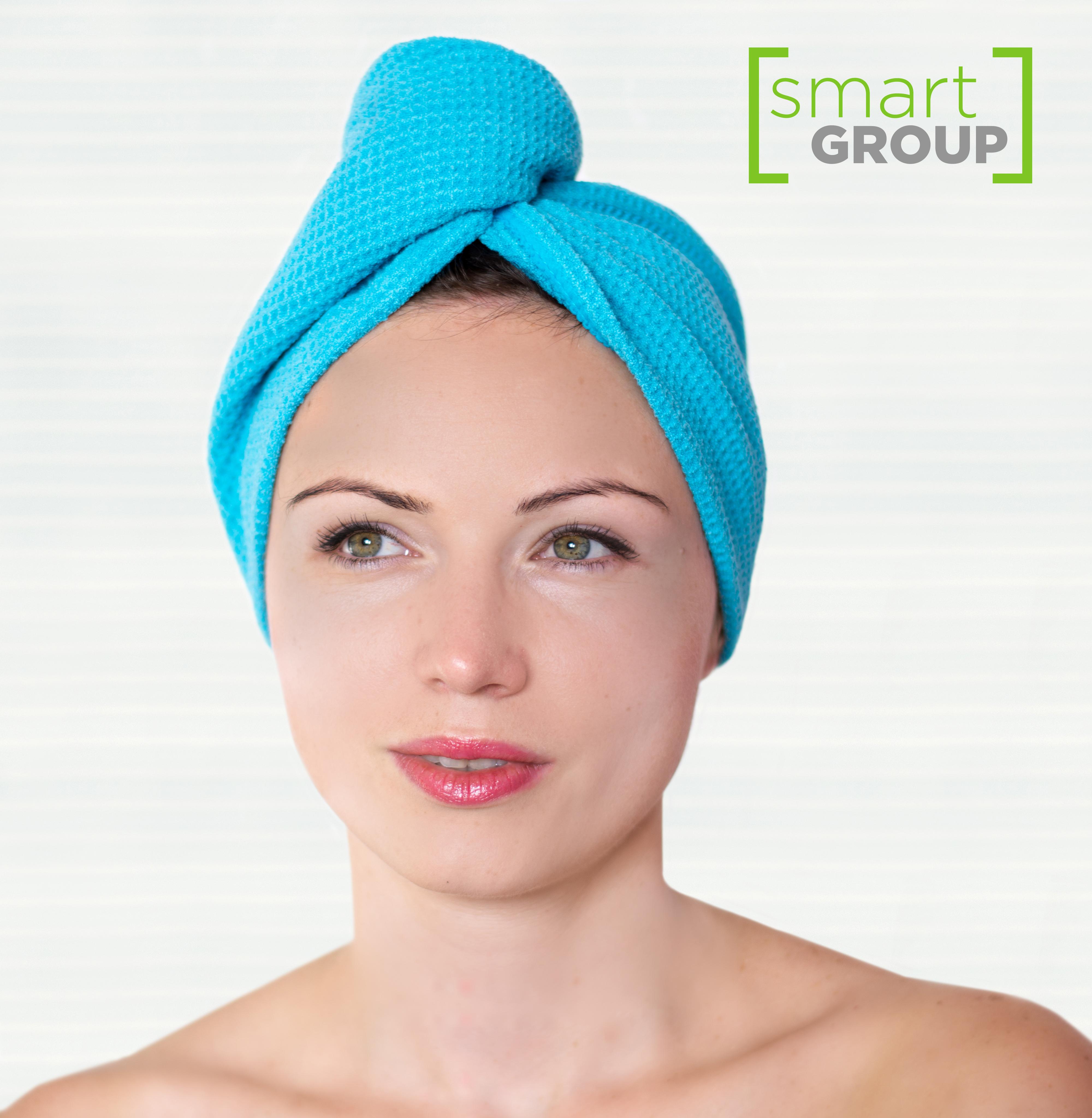 Smart Microfiber System Turban WAFFLE - turban na vlasy