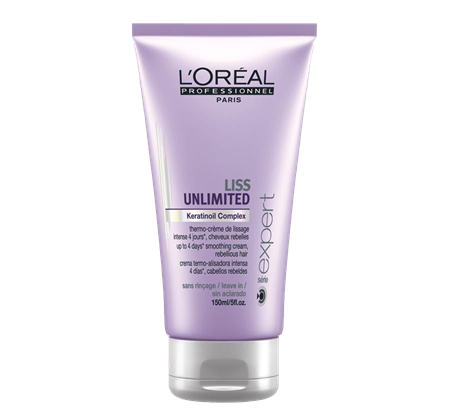 L'Oréal Expert Liss Unlimited Smoothing Cream - ochranný krém pro uhlazení vlasů, 150 ml