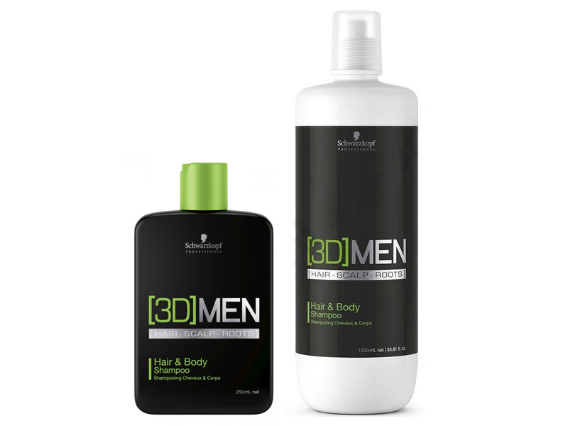 [3D] Men HAIR and BODY Shampoo - šampón na vlasy a telo