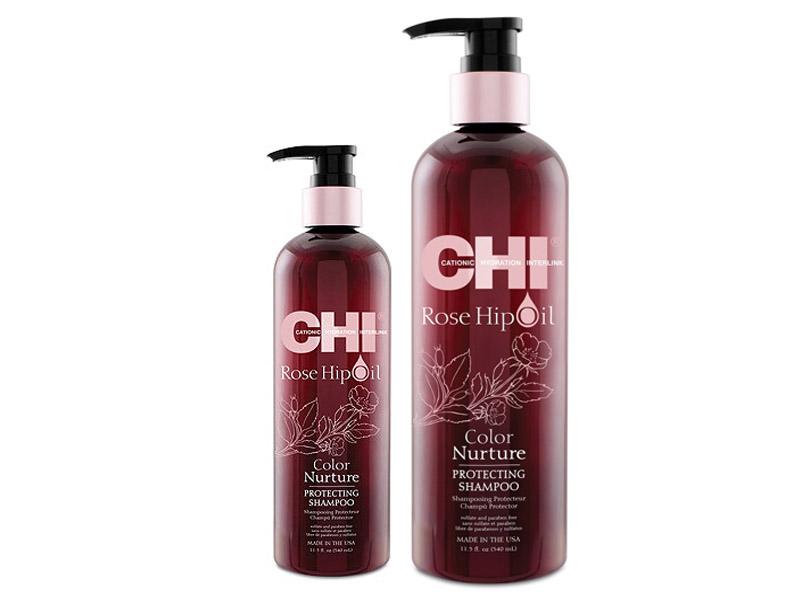 CHI Rose Hip oil protecting shampoo - šampón na farbené vlasy