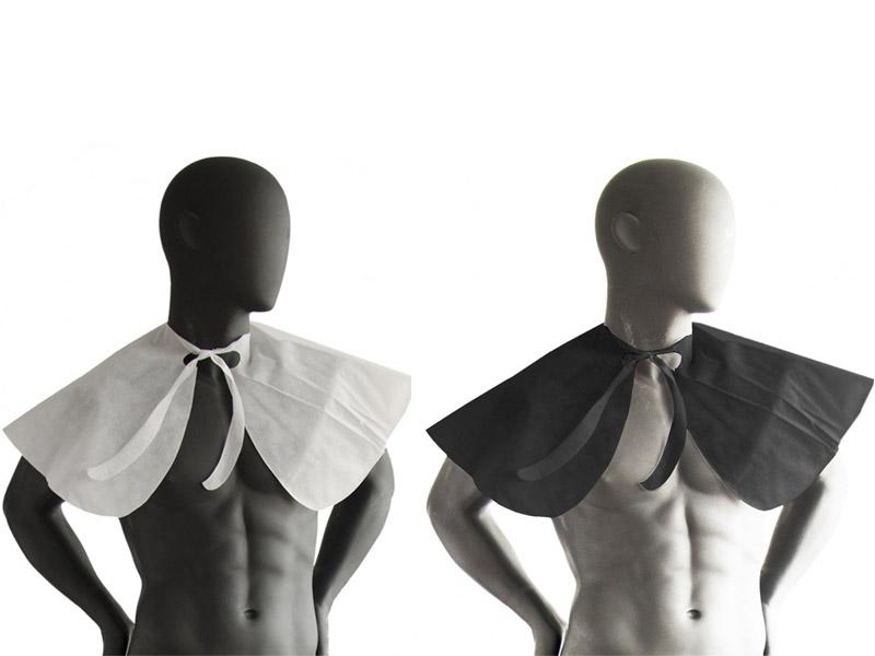 Jednorázová kadernícka pláštenka z netkanej textílie - golier, 20 ks