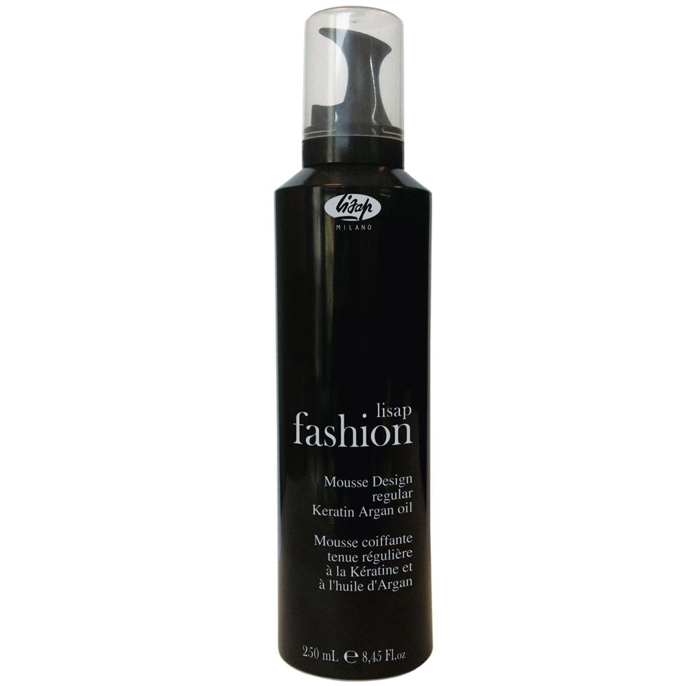 LISAP FASHION Mousse Design Regular - pěnové tužidlo s arganovým olejem a keratinem, 250 ml