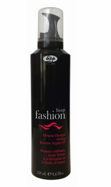 LISAP FASHION Mousse Design Strong - extra silné pěnové tužidlo s arganovým olejem a keratinem, 250 ml