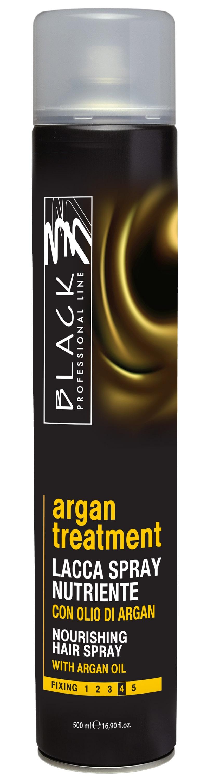 Black Argan treatment - extra silný lak na vlasy s arganovým olejom, 500 ml