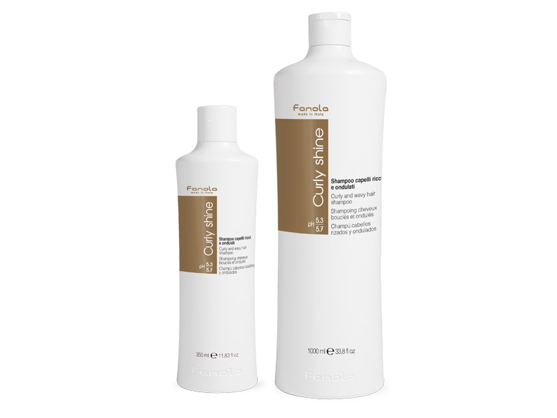 FANOLA Curly Shine shampoo -  šampón na kučeravé a vlnité vlasy