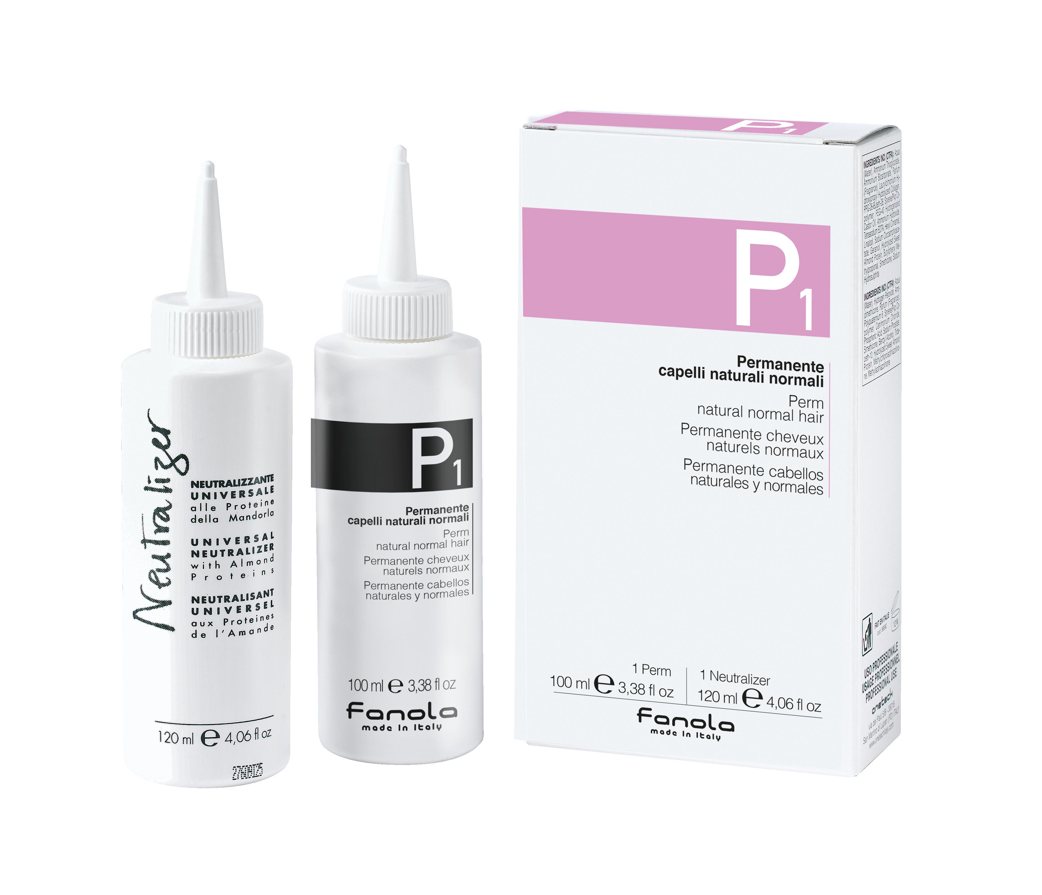 Fanola PERM P 1 Kit- trvalá ondulácia na normálne vlasy, 100 ml + neutralizér, 120 ml