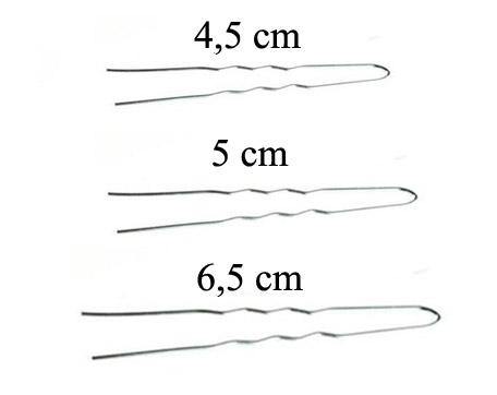 Vlásenky do vlasů profilované, barva stříbrná