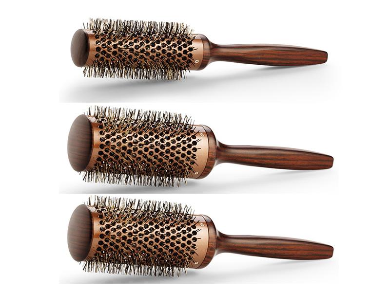 BraveHead Vintage Maple brush - profesionálne keramické drevené kefy na fúkanie vlasov