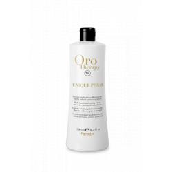 Fanola Oro Therapy UNIQUE PERM - multifunkčná emulzia na trvalú pre všetky typy vlasov, 500 ml