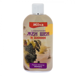 Milva ŽENŠEN a CHINÍN - ženšenový, chinínový šampón, 200 ml