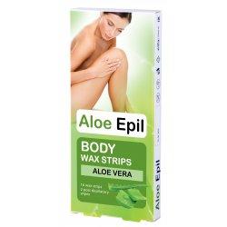 Aloe Epil Body Wax strips - depilační voskové pásky na tělo 16+2 ks