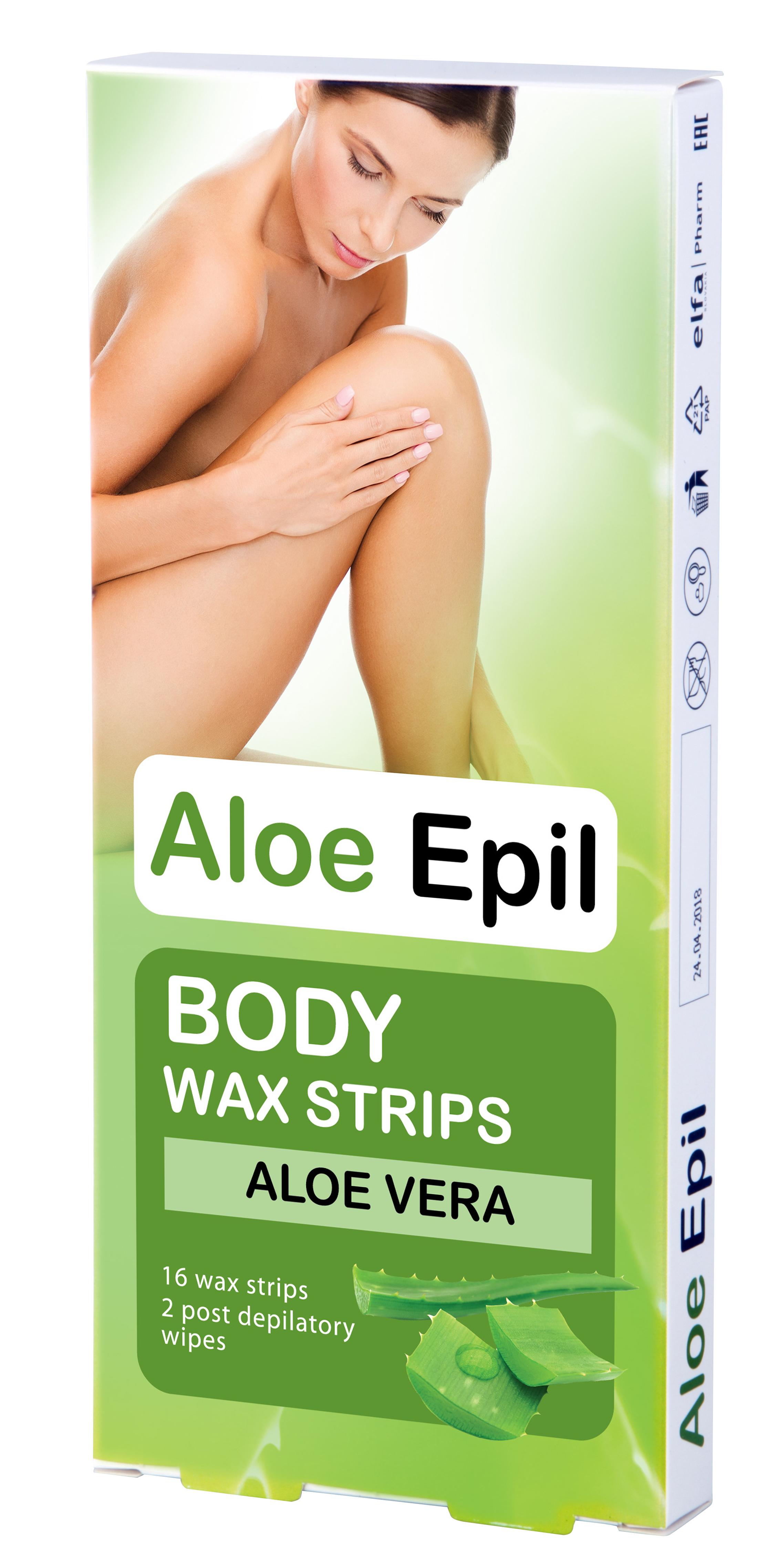 Aloe Epil Body Wax strips - depilačné voskové pásiky na telo, 16+2 ks