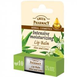 Green Pharmacy Aloe enad Lime - hydratačný balzam na pery aloe a limetka 3,6g