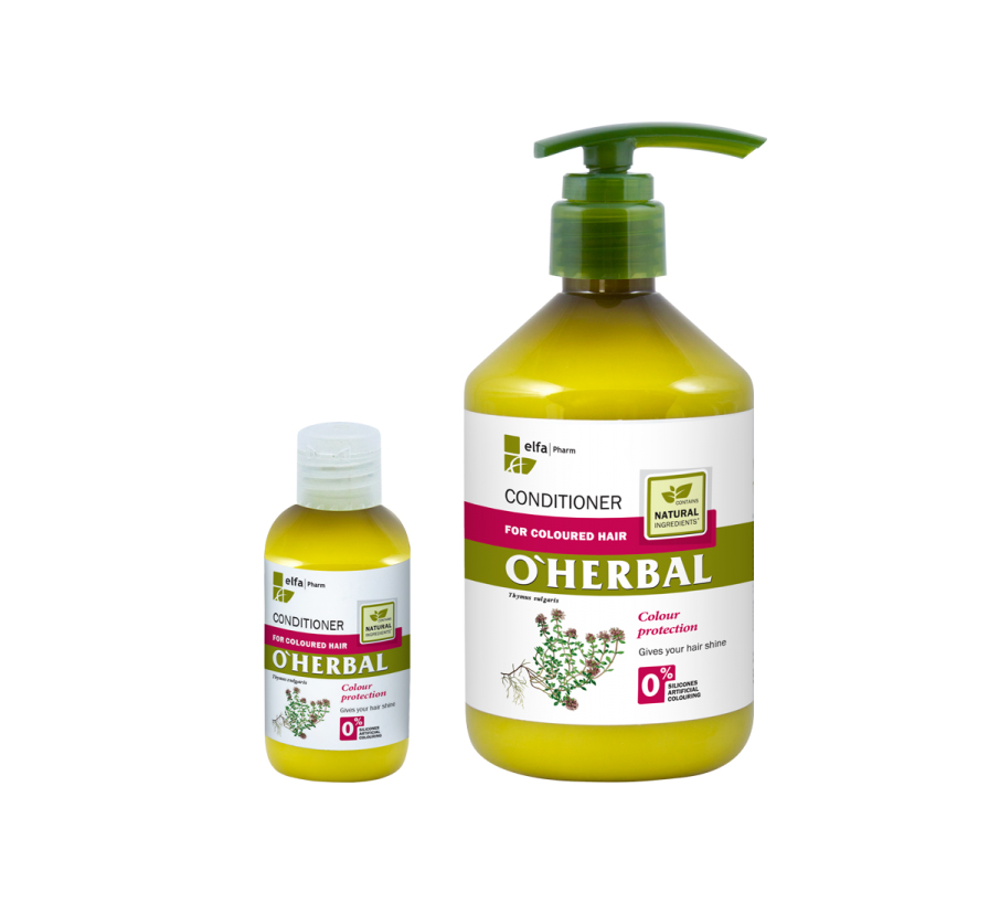 ​O'HERBAL For Coloured hair - kondicionér na barvené vlasy