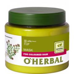O´HERBAL For Coloured hair - maska na farbené vlasy, 500 ml
