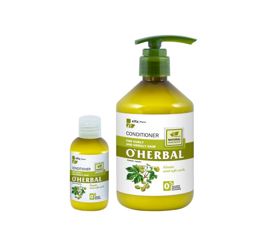 O'HERBAL For Curly and Unruly hair - kondicionér pro kudrnaté, krepatějící a nepoddajné vlasy