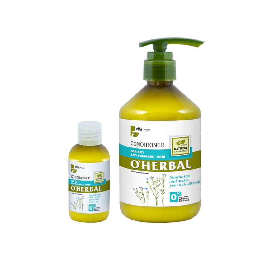 O'HERBAL For Dry and Damaged hair - kondicionér pro suché a poškozené vlasy