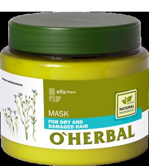 O'HERBAL For Dry and Damaged hair - maska pro suché a poškozené vlasy, 500 ml