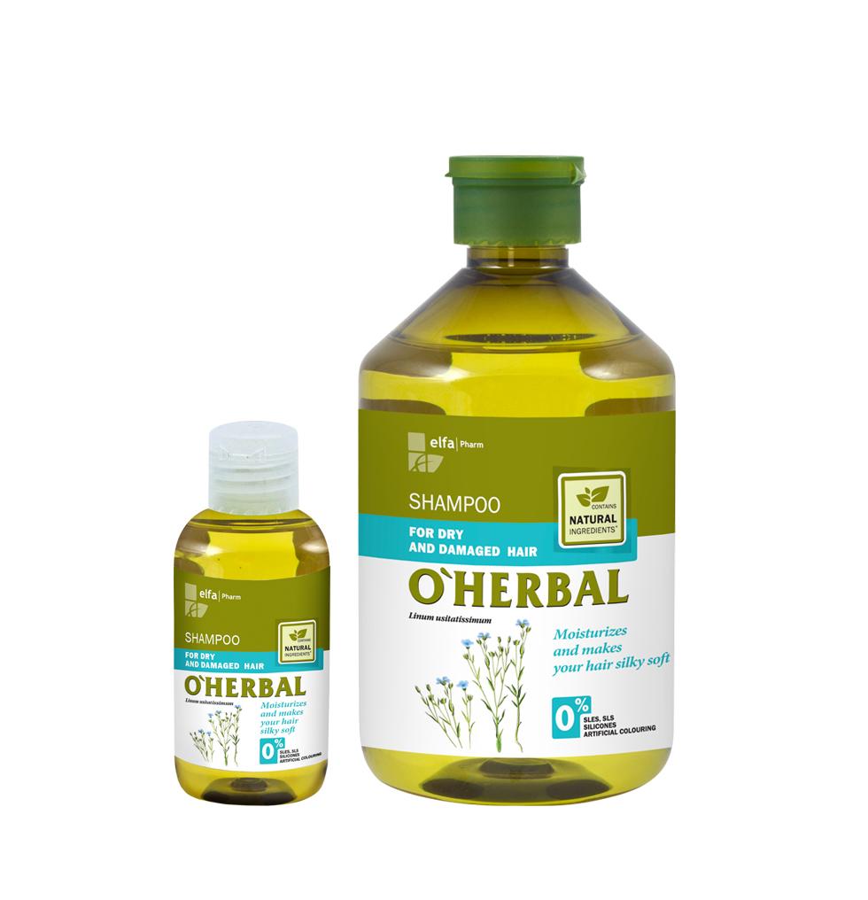 O´HERBAL For Dry and Damaged hair - šampón pre suché a poškodené vlasy
