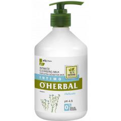 O'HERBAL Milk - intimní čistící mléko s extraktem lnu, 500 ml
